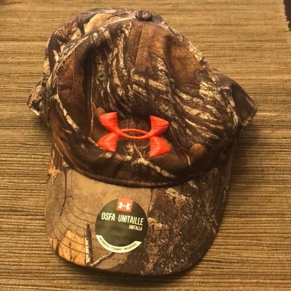 Under Armour Other Camo Hat With Pink Symbol Poshmark